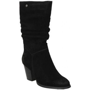 Schoenen Dames Hoge laarzen Top3 BOTAS  20818 MODA JOVEN NEGRO Noir