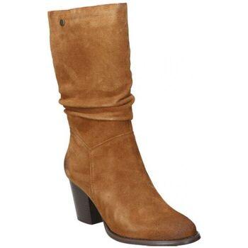 Schoenen Dames Hoge laarzen Top3 BOTAS  20818 MODA JOVEN CUERO Marron