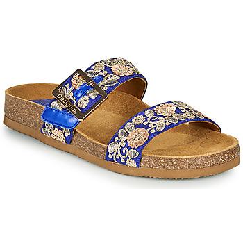 Schoenen Dames Leren slippers Desigual ARIES EXOTIC Blauw