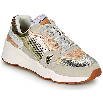 Schoenen Dames Lage sneakers Pepe jeans HARLOW GOLDEN Beige / Goud