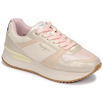 Schoenen Dames Lage sneakers Pepe jeans RUSPER EVE Roze / Luipaard