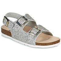 Schoenen Meisjes Sandalen / Open schoenen Pepe jeans BIO BASIC GLITTER Zilver / Glitter