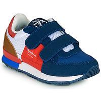 Schoenen Jongens Lage sneakers Pepe jeans SYDNEY TREND BOY KIDS SS21 Blauw / Rood