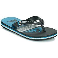 Schoenen Kinderen Teenslippers Quiksilver MOLOKAI PANEL YOUTH Zwart / Blauw