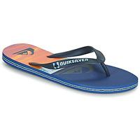 Schoenen Heren Teenslippers Quiksilver MOLOKAI PANEL Blauw / Oranje / Zwart