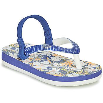 Schoenen Meisjes Teenslippers Roxy TW PEBBLES VI Blauw