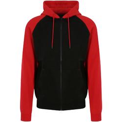 Textiel Heren Sweaters / Sweatshirts Awdis JH063 Straalzwart / vuurrood