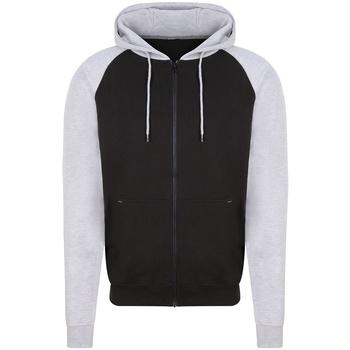 Textiel Heren Sweaters / Sweatshirts Awdis JH063 Jet Zwart/Heather Grey