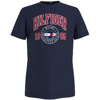 Textiel Jongens T-shirts korte mouwen Tommy Hilfiger CRISA Marine
