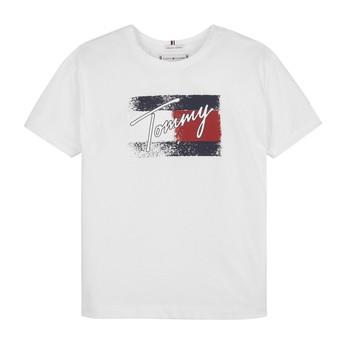 Textiel Meisjes T-shirts korte mouwen Tommy Hilfiger MONCHE Wit