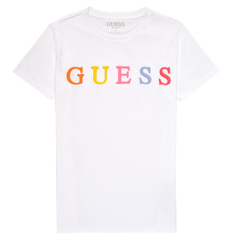 Textiel Meisjes T-shirts korte mouwen Guess H1RJ04-K8HM0-TWHT Wit