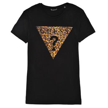 Textiel Meisjes T-shirts korte mouwen Guess J1RI27-K9MV0-P954 Zwart