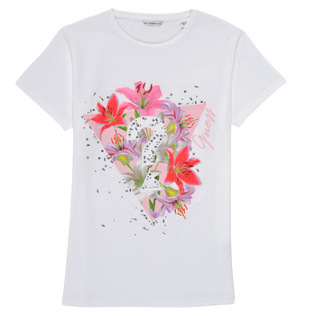 Textiel Meisjes T-shirts korte mouwen Guess J1RI24-K6YW1-TWHT Wit