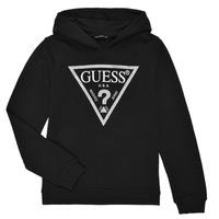 Textiel Meisjes Sweaters / Sweatshirts Guess J83Q14-K5WK0-A996 Zwart