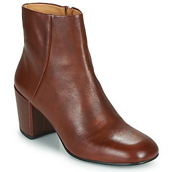 Schoenen Dames Enkellaarzen Vagabond Shoemakers MELINA Cognac