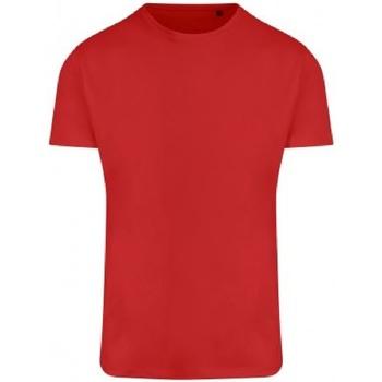Textiel Heren T-shirts korte mouwen Ecologie EA004 Vuurrood