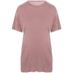 Textiel Heren T-shirts korte mouwen Ecologie EA002 Stoffig Roze