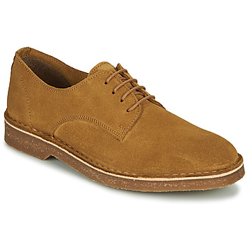 Schoenen Heren Derby Selected RIGA SUEDE DERBY Cognac