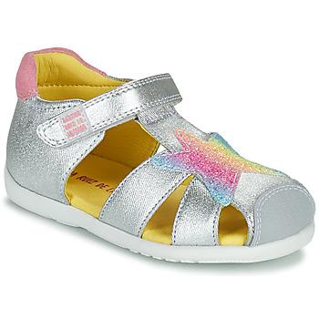 Schoenen Meisjes Sandalen / Open schoenen Agatha Ruiz de la Prada HAPPY Zilver