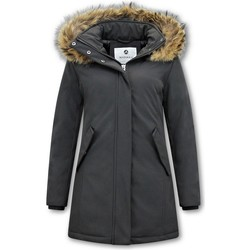 Textiel Dames Parka jassen Matogla Winterjas Echte Bontkraag Zwart