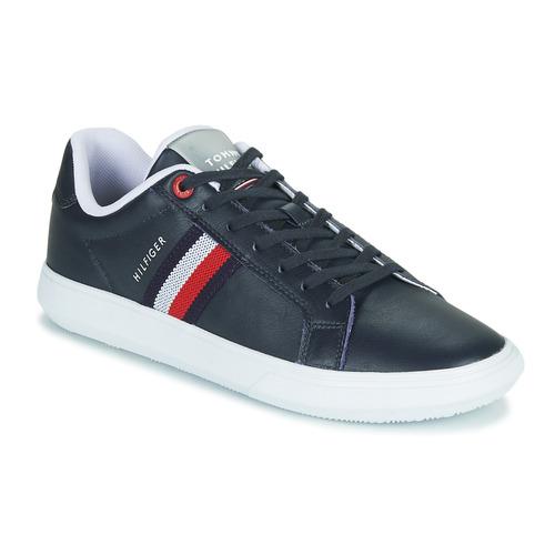 Schoenen Heren Lage sneakers Tommy Hilfiger ESSENTIAL LEATHER CUPSOLE Marine