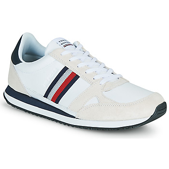Schoenen Heren Lage sneakers Tommy Hilfiger RUNNER LO LEATHER STRIPES Wit