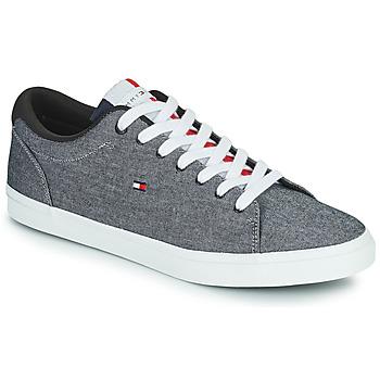 Schoenen Heren Lage sneakers Tommy Hilfiger ESSENTIAL CHAMBRAY VULCANIZED Grijs