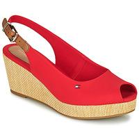 Schoenen Dames Sandalen / Open schoenen Tommy Hilfiger ICONIC ELBA SLING BACK WEDGE Oranje