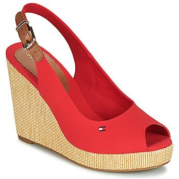 Schoenen Dames Sandalen / Open schoenen Tommy Hilfiger ICONIC ELENA SLING BACK WEDGE Oranje