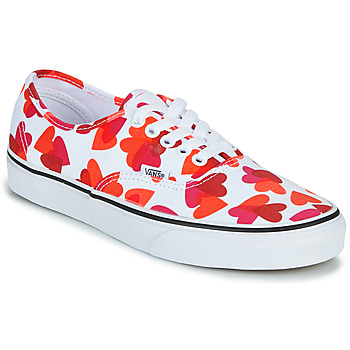 Schoenen Dames Lage sneakers Vans AUTHENTIC Wit / Rood