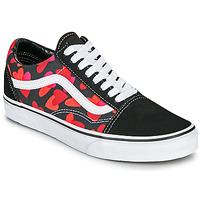 Schoenen Dames Lage sneakers Vans OLD SKOOL Zwart / Rood