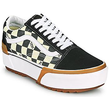 Schoenen Dames Lage sneakers Vans OLD SKOOL STACKED Zwart / Wit