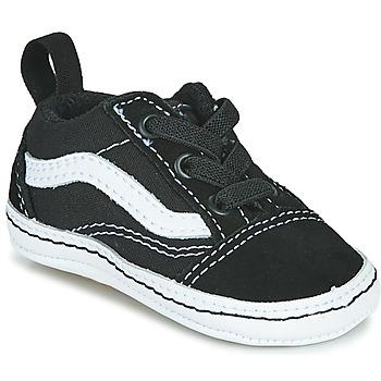 Schoenen Kinderen Lage sneakers Vans OLD SKOOL CRIB Zwart / Wit