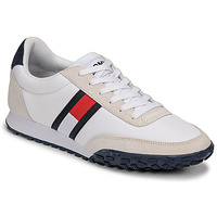 Schoenen Heren Lage sneakers Tommy Jeans LOW PROFILE MIX RUNNER RETRO Wit / Blauw / Rood