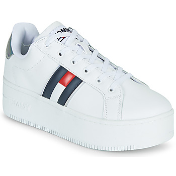 Schoenen Dames Lage sneakers Tommy Jeans IRIDESCENT ICONIC SNEAKER Wit