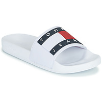 Schoenen Dames slippers Tommy Jeans TOMMY JEANS FLAG POOL SLIDE Wit