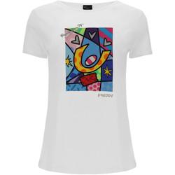 Textiel Dames T-shirts & Polo's Freddy F0WBRT1 Wit