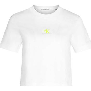 Textiel Dames T-shirts & Polo's Calvin Klein Jeans J20J214148 Wit