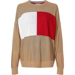 Textiel Dames Sweaters / Sweatshirts Tommy Hilfiger WW0WW28582 Beige