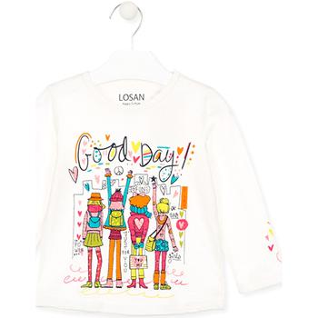 Textiel Kinderen T-shirts & Polo's Losan 026-1003AL Wit
