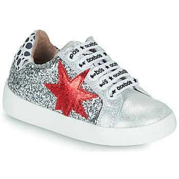 Schoenen Meisjes Lage sneakers Acebo's 5461GL-PLATA-J Zilver