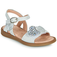 Schoenen Meisjes Sandalen / Open schoenen Acebo's 5500SU-BLANCO Wit / Zilver