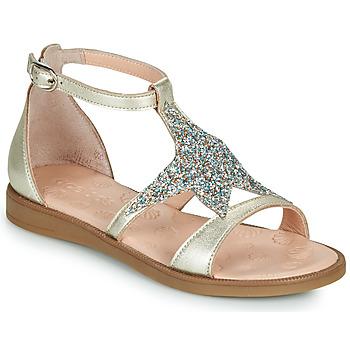 Schoenen Meisjes Sandalen / Open schoenen Acebo's 9895GE-PLATINO-J Goud