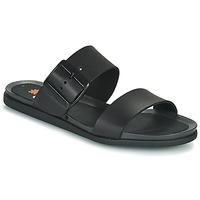 Schoenen Dames Leren slippers Art LARISSA Zwart