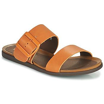 Schoenen Dames Leren slippers Art LARISSA Bruin