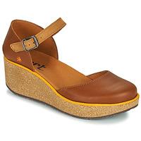 Schoenen Dames Leren slippers Art PARMA Bruin