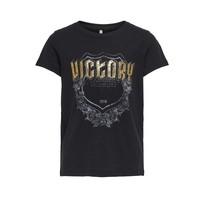 Textiel Meisjes T-shirts korte mouwen Only KONLINA Zwart
