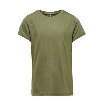 Textiel Meisjes T-shirts korte mouwen Only KONMOULINS Kaki