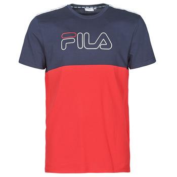 Textiel Heren T-shirts korte mouwen Fila JOPI Rood / Marine