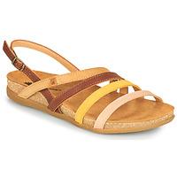 Schoenen Dames Sandalen / Open schoenen El Naturalista ZUMAIA Bruin / Geel / Roze